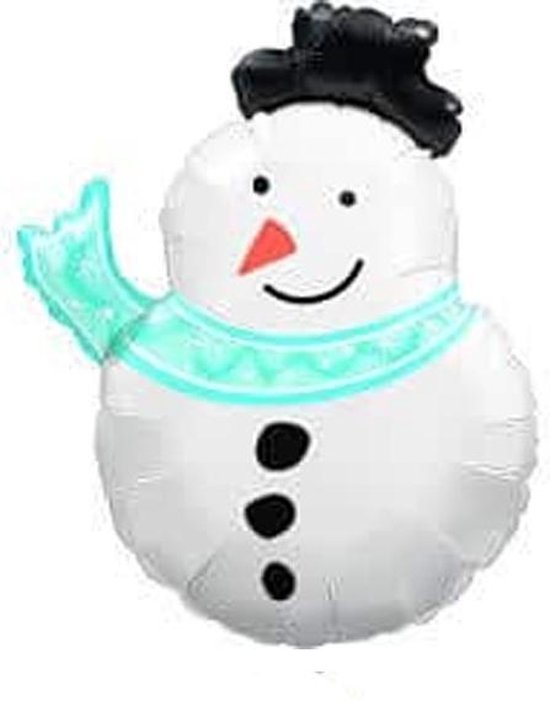 Folieballon Sneeuwpop Kerst 76 cm