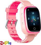DePlay 4G KidsWatch - Smartwatch Kinderen - GPS Horloge Kind - GPS Tracker - Kinderhorloge - Hartslagmeter - Bloeddrukmeter - Thermometer - HD Videobellen - Camera - Waterproof - Niet Storen Functie - Zaklamp - Roze