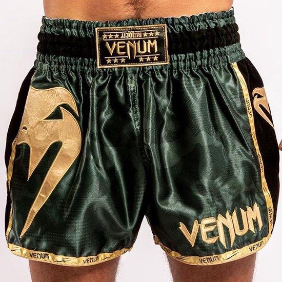 Bol Com Venum Giant Camo Muay Thai Kickboks Broekje Khaki Goud Xs Kids 7 8 Jaar Jeans Maat 26