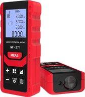 Professionele laser afstand meter - Tot 70 meter bereik - Klussen - opervlakte & inhoud