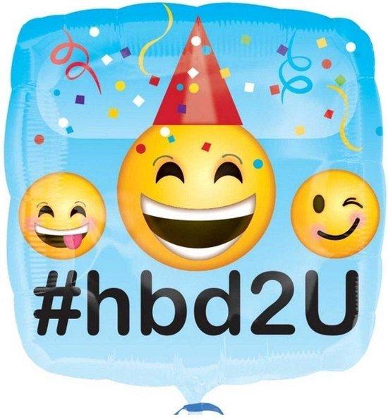 Folie Ballon Happy Birthday Emoticons
