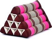 Driehoek kussen - Driehoekskussen - Thais kussen - Rug en steunkussen - Roze