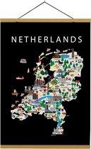 Kaart van Nederland   B2 poster   50x70 cm   Maison Maps