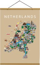 Kaart van Nederland   B2 poster   50x70 cm   Beige   Maison Maps
