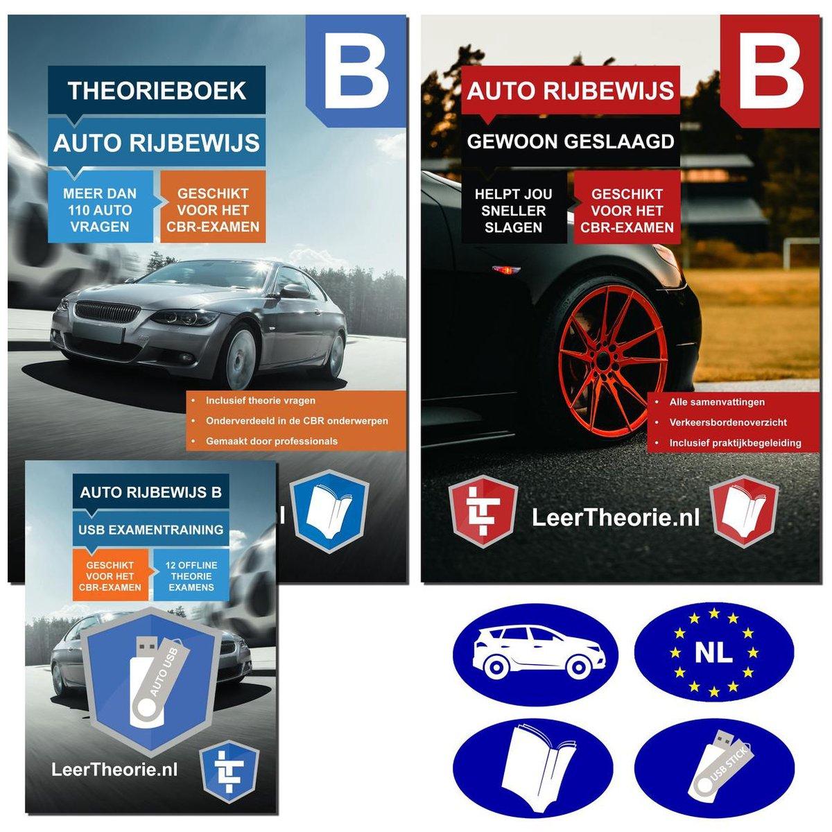 Auto Theorieboek 2021 met USB   Auto Theorie-examen 2021 met Auto Theorieboek Samenvattingen - Exame