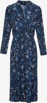 Jazlyn dames maxi blousejurk met paisley print - Blauw - Maat L