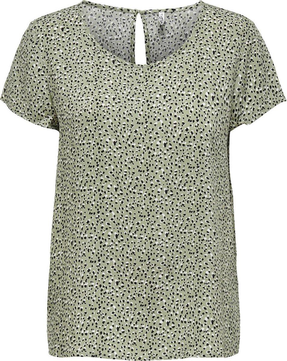ONLY ONLFIRST ONE LIFE SS AOP TOP NOOS WVN Dames T-Shirt - Maat 40