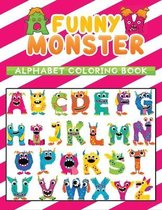 funny monster alphabet coloring book