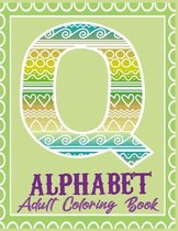 Alphabet Adult Coloring Book