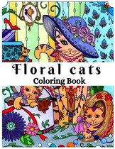 Floral cats Coloring Book