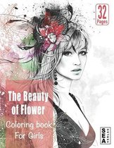 The Beauty of Flower coloring book for girls