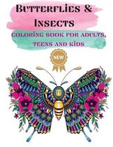 Butterflies & Insects Coloring books for Adults, Teens, and Kids
