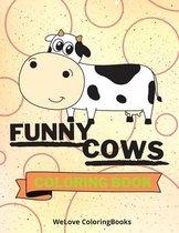 Funny Cows Coloring Book