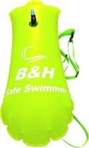Premium Safe swimmer Zwemboei voor veilig Openwaterzwemmen - Safeswimmer zwem boei voor open water inclusief drybag opbergzak   B&H Safe swimmer