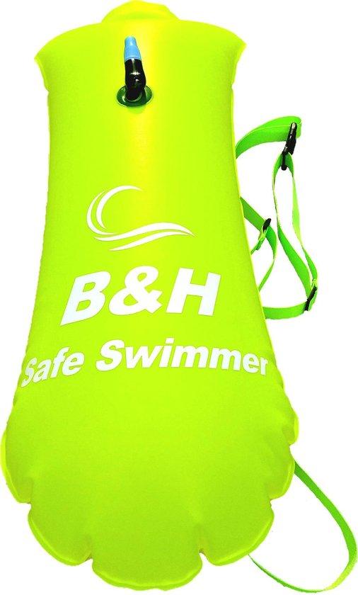 Premium Safe swimmer Zwemboei voor veilig Openwaterzwemmen - Safeswimmer zwem boei voor open water inclusief drybag opbergzak | B&H Safe swimmer