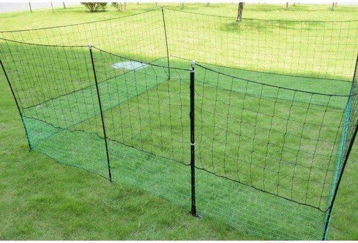 iBought Kippenomheining 21 meter - Kippennet - Kippenren Net - Pluimveenet - Dierenafrastering - Die