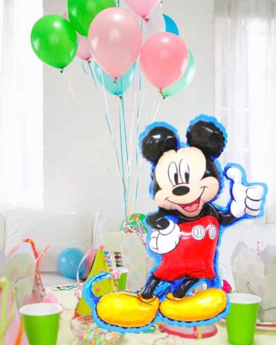 Blije Ballon® - Mickey Mouse Ballon - 78 x 56 cm - Disney - Inclusief Opblaasrietje - Ballonnen - Ballonnen Verjaardag - Helium Ballonnen - Folieballon - Mickey Mouse Speelgoed