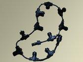 Winglinks Gold- Curtain belt - 2M - 20 Sockets - zwart