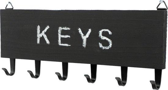 Sleutelrekje Mat zwart / Krijtbord
