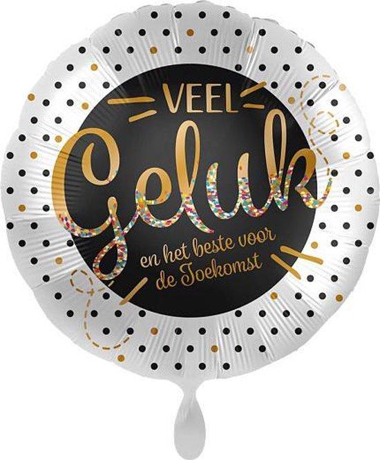 Everloon - Folieballon - Veel Geluk En Het Beste Voor De Toekomst - 43cm