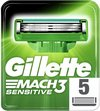 Gillette Mach3 sensitive - 5 stuks