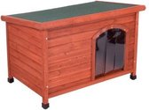 Kelly platdak-hondenhok met kunststof deur (116*79*82) - hondenhok – hondenhok buiten – hondenhok hout  - hondenhok xl - Hondenhok grote honden – hondenhok buiten grote honden