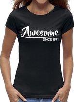 Awesome Sarah 50 jaar t-shirt / kado tip / dames maat L / cadeau