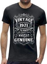 Perfection 50 jaar verjaardag t-shirt / kado tip / Heren maat S / cadeau / leeftijd