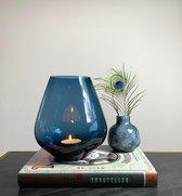 BLUE BEAUTY vaas / waxinelicht - Glas - Blauw