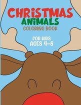 Christmas Animals Coloring Book for Kids ages 4-8