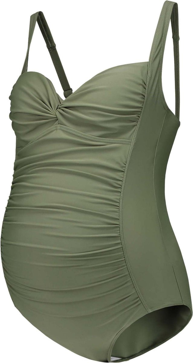Prénatal Zwangerschapsbadpak Dames - Zwemkleding - Groen - Maat M