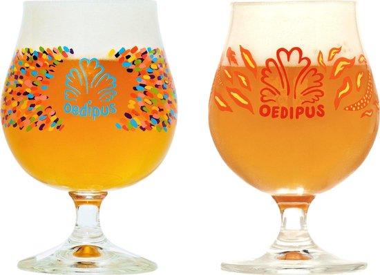 Oedipus speciaal bierglazen - 33cl - 6 stuks - 4x Goblet - 2x Thai Thai - voetglazen - bierpakket - cadeauset