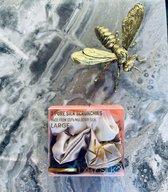 LXRY Silk - 3 large zijden scrunchies / haarelastiekjes -  champagne / ivoor / zwart