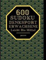 600 Sudoku Denksport Erwachsene Leicht Bis Mittel