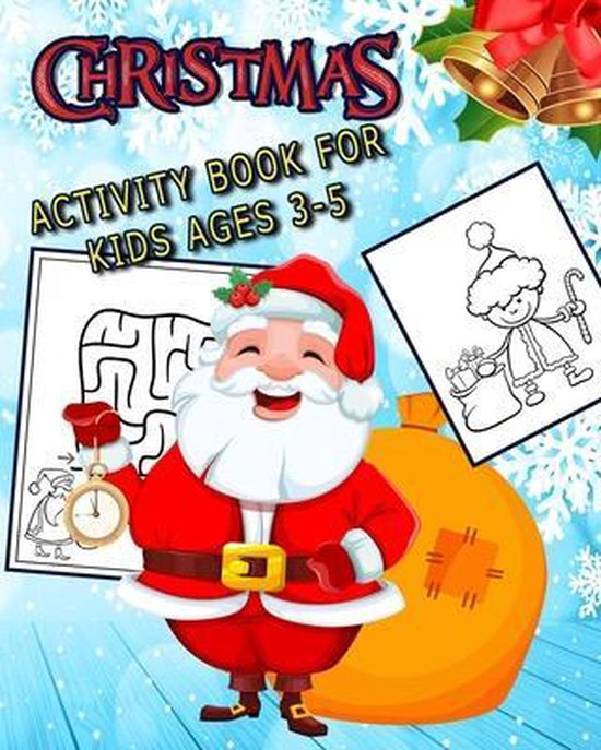 Christmas Activity Book for Kids Ages 3-5