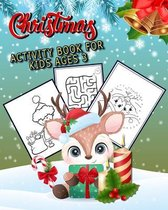 Christmas Activity Book for Kids Ages 3