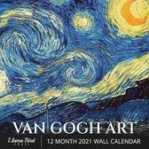 Van Gogh Art 2021 Wall Calendar