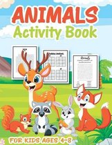 Animal Activity Book for Kids Ages 4-8
