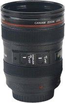 Kwalitatieve Camera Lens Beker Tas Mok Thermos - Koffie Thee Coffee Mug - Must Have - Cameralens - Drinkbeker - 400 ML - Met Deksel -