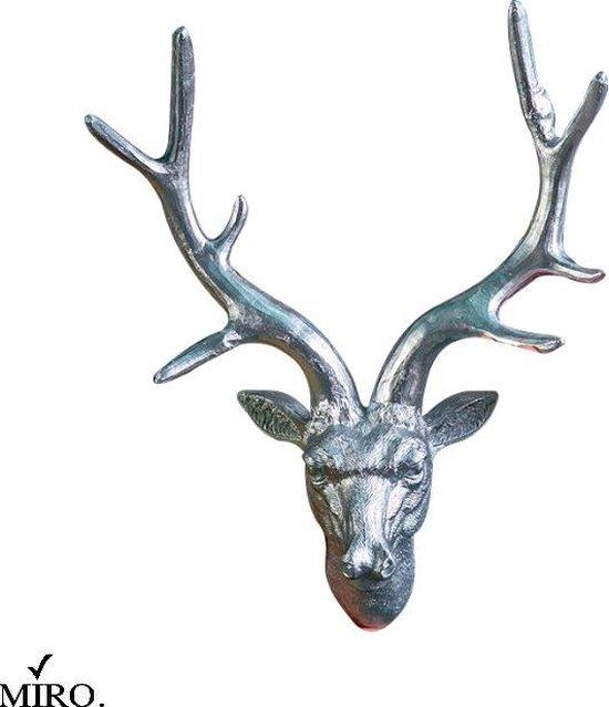Bol Com Miro Luxe Herten Kop Herten Gewei Decoratie Wand Woonkamer Zilver Hars