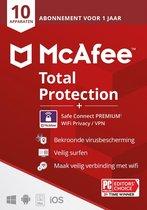 McAfee Total Protection 10 apparaten + McAfee VPN Premium 5 apparaten - Download