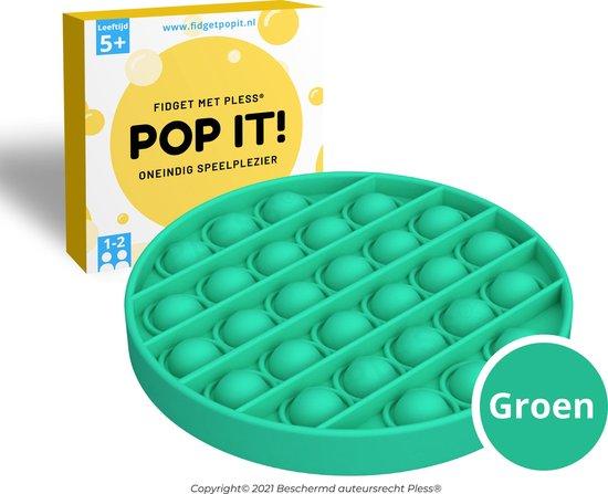 Fidget Toys Pop It Speelgoed - Cirkel Groen - Met handleiding - Pless®
