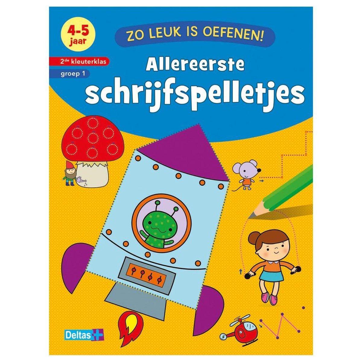Boek Zo Leuk Is Oefenen Schrijfspelletjes 4-5 Jaar - ZNU