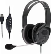 QY USB headset, Stereo hoofdtelefoon met microfoon voor PC, Laptop, Gaming, FaceTime, PS4