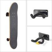 Skateboard rek - Muurbeugel - Skateboard/Longboard - met 3 skateboardstikkers