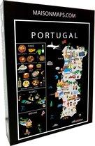 Puzzel van Portugal   1000 stukjes   68x48 cm   Familiepuzzel   Jigsaw   Legpuzzel   Maison Maps
