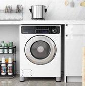 Wasmachine verhoger 6 CM- Anti-Vibratie Pads- Non Slip- Multitool - Ook geschikt voor Vaatwasser, Koelkast, Vriezer en Droger - Duurzaam -ABS