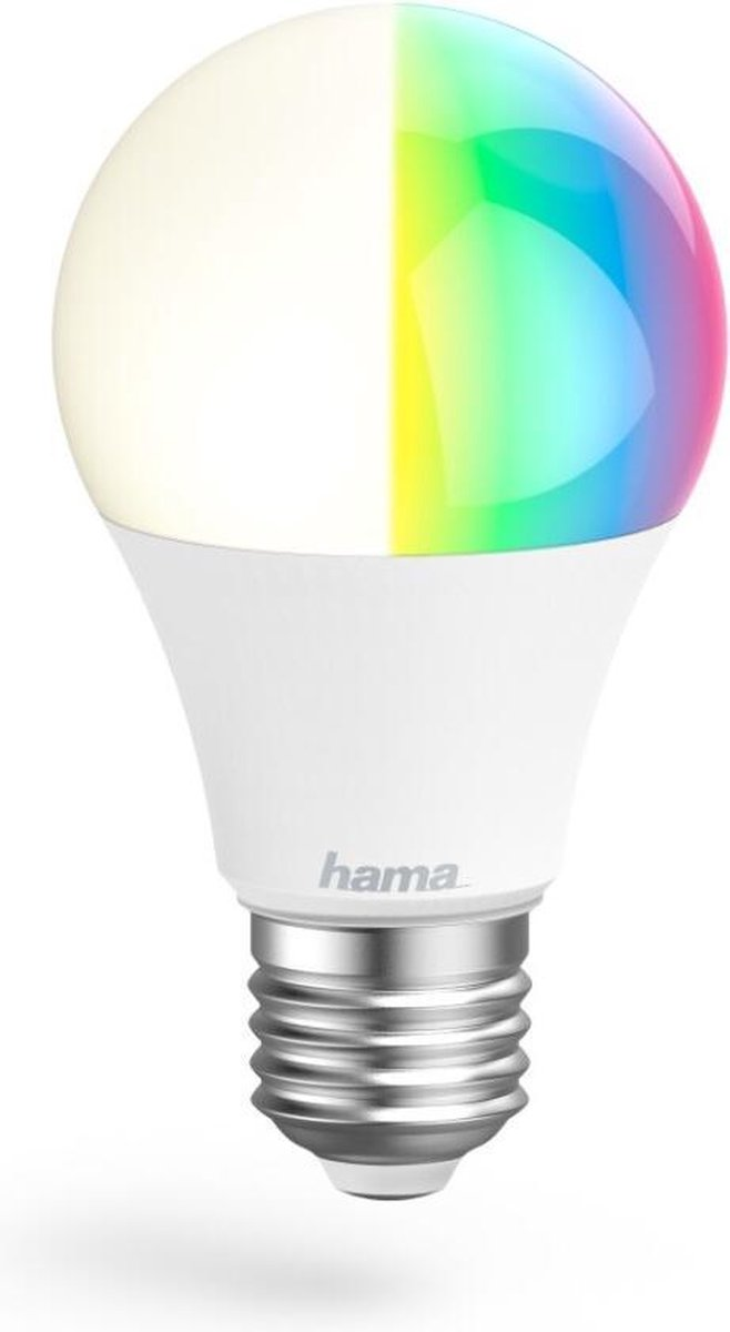 Hama Wifi-ledlamp E27 10W RGBW Zonder Hub Voor Spraak-/app-bediening