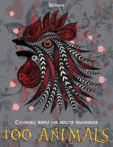 Mandala Coloring Books for Adults Beginners - 100 Animals