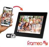 Digitale fotolijst met WiFi en Frameo App – Fotokader - 10 inch - Pora – HD+ -IPS Display – Zwart - Micro SD - Touchscreen